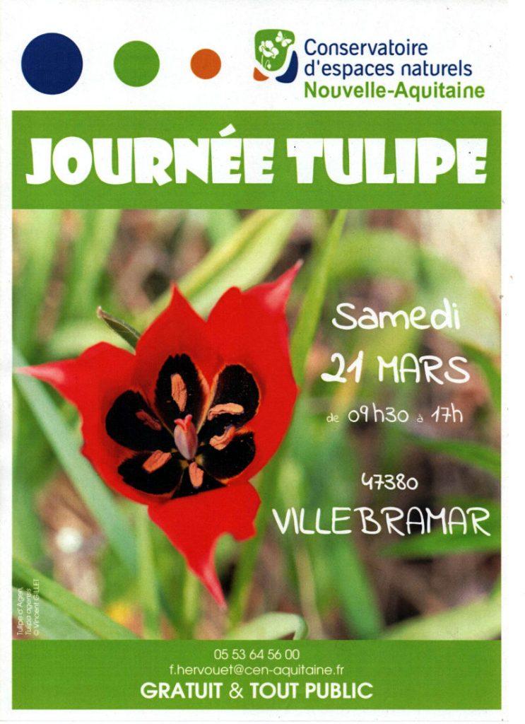 Affiche journée tulipes 2020 à Villebramar