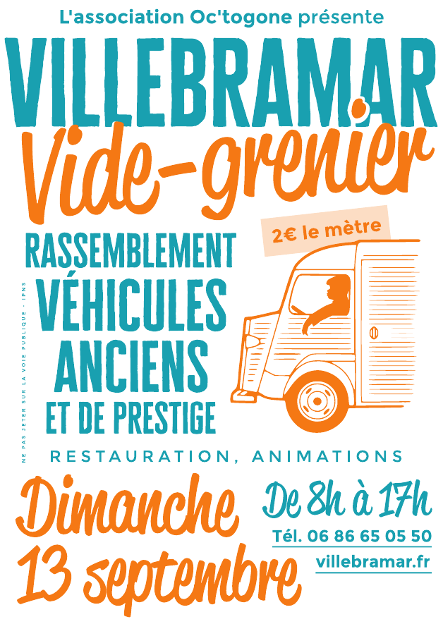 Affiche du vide-grenier 2020 à Villebramar