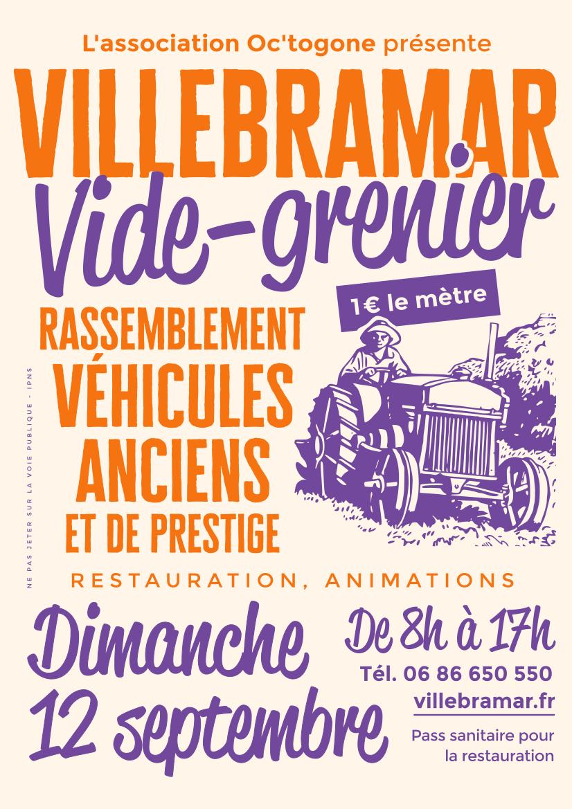 Affiche du vide-grenier Villebramar 2021