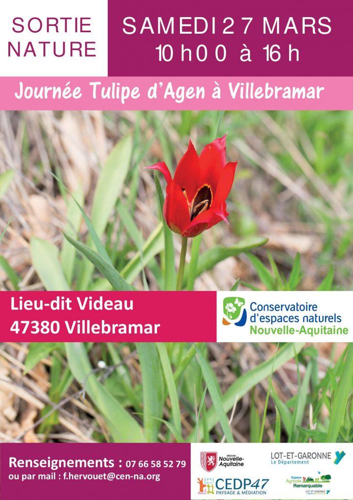 Affiche de la journée tulipes d'Agen à Villebramar 2021
