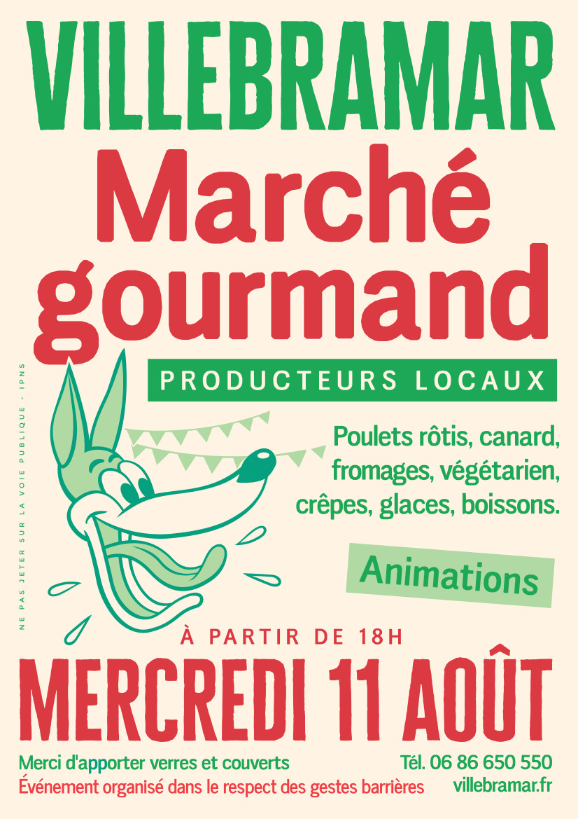 Affiche marché gourmand Villebramar 2021